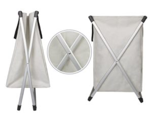 Laundry Basket Double X with Dividers - folding