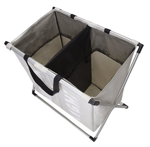 Laundry Basket Double X with Dividers - interior