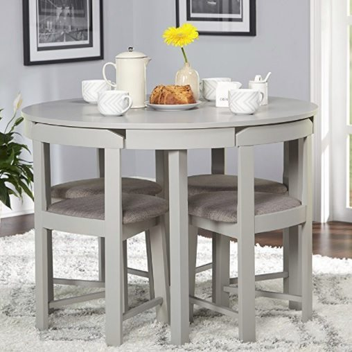 Round space saving dining table