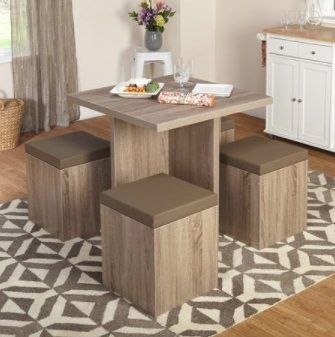 5 Piece Space Saving Dining Set