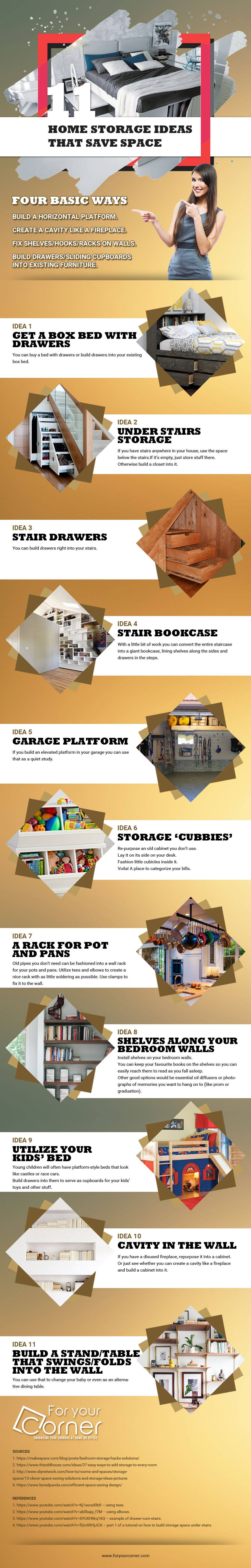 Home Storage idea that are space saving