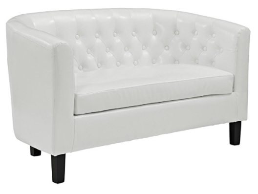 modway comfortable loveseat for small spaces