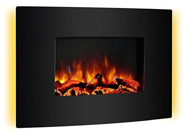 puraflame vivian wall mounted electric fireplace