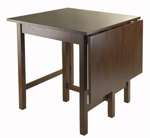 winsome drop dining room table for small spaces