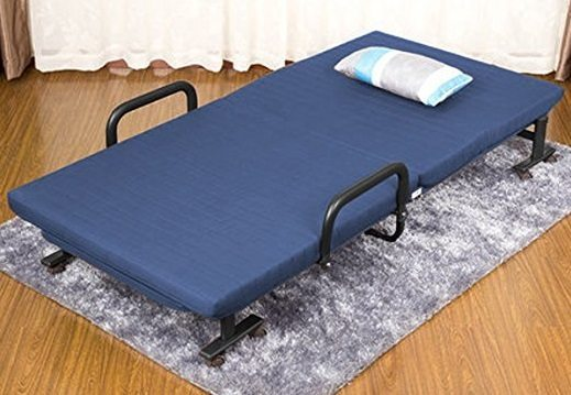 elevens folding memory foam guest bed - open
