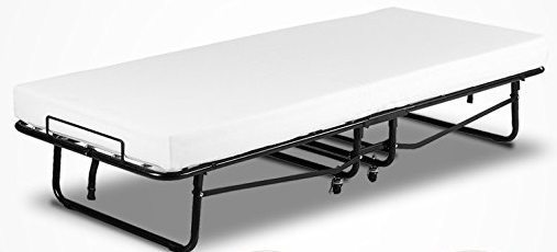 Mecor folding memory foam guest bed - open