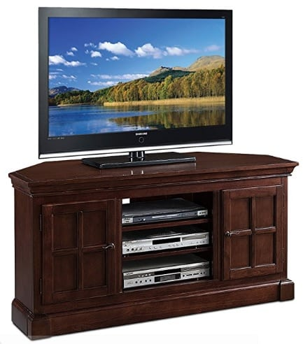 corner entertainment center with tv