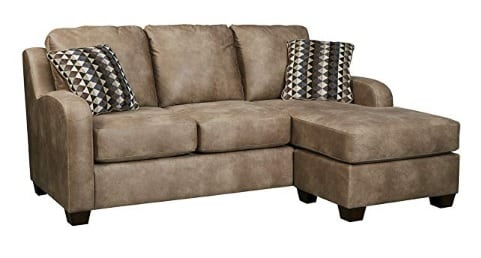 corner brown sofa bed