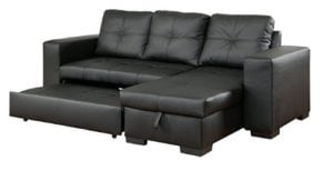 Leather Look corner sofa bed